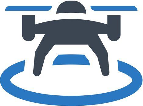 Drone landing icon. Vector EPS file.