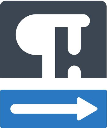 Text right direction format icon