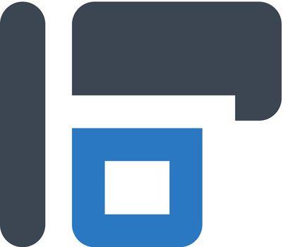 Objects left horizontal align icon