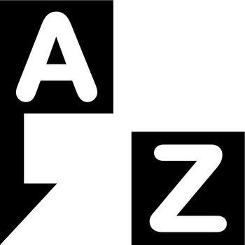 Alphabetical sort icon. Vector EPS file.