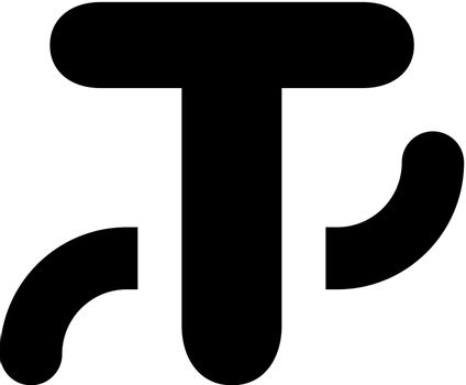 Type on path icon. Vector EPS file.