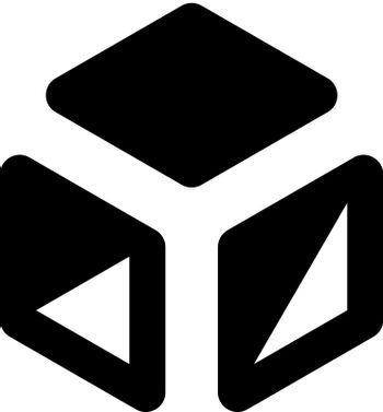 3d cube icon. Vector EPS file.