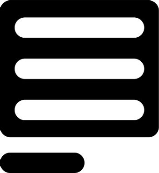 Left align icon. Vector EPS file.