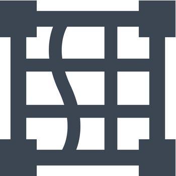 Distort grid icon. Vector EPS file.