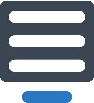 Line align center icon