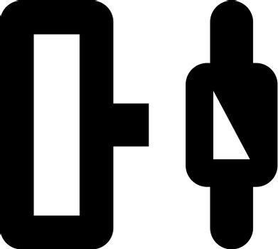 Horizontal distribute object icon