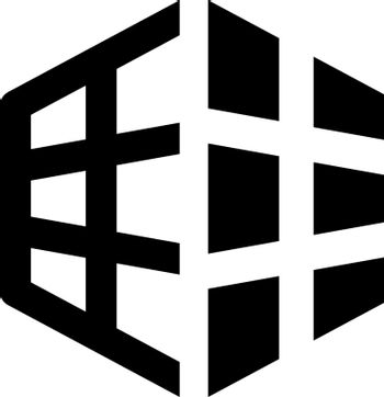 Grid perspective icon. Vector EPS file.