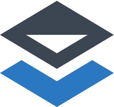 Object backward icon. Vector EPS file.