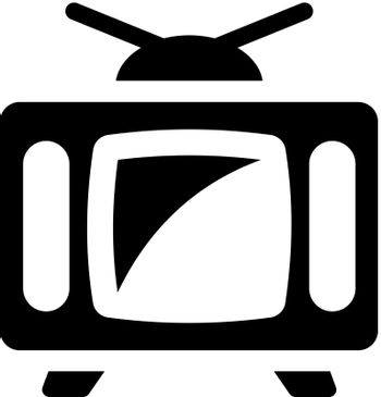Television icon. Vector EPS file.