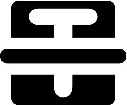 Text strike icon. Vector EPS file.