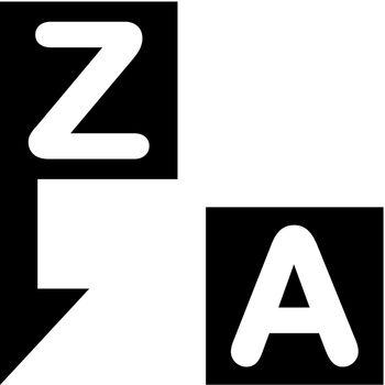Alphabetical order icon. Vector EPS file.
