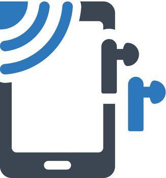 Wireless music icon