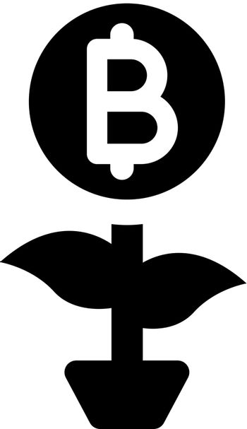 Cryptocurrency growth icon