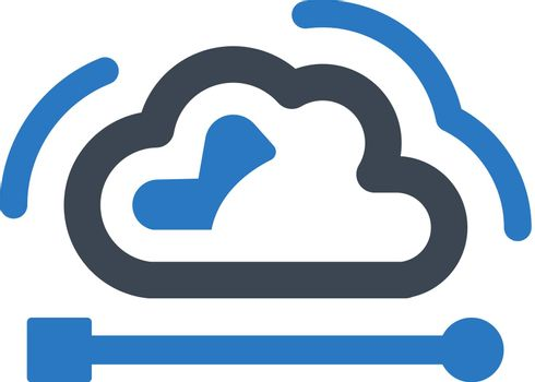 Cloud network icon