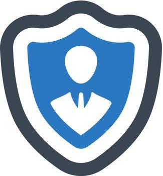 Person insurance icon