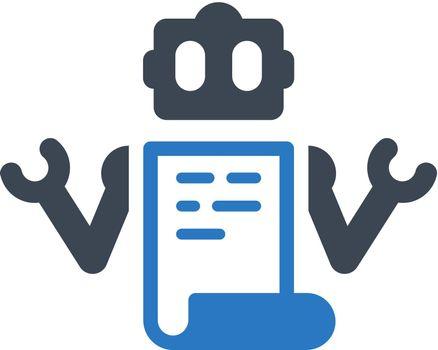 Robot txt icon