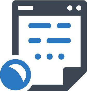 Digital contract icon