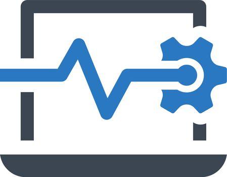Computer diagnostic icon