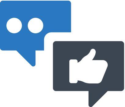Social media feedback icon