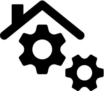 Smart home management icon