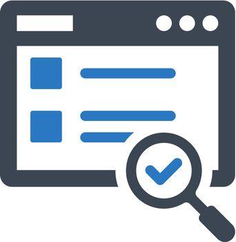 Web content search icon