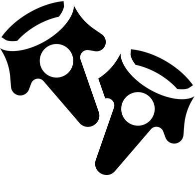 Virtual reality controller icon