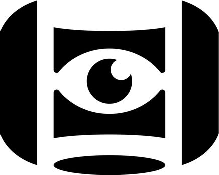 Virtual reality eye icon