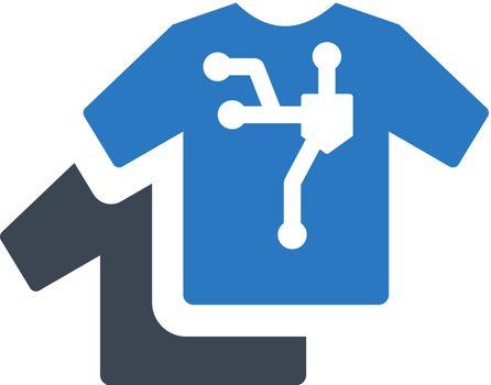 Smart clothes icon