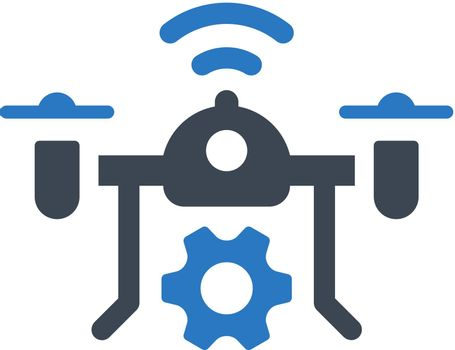 Drone technology icon