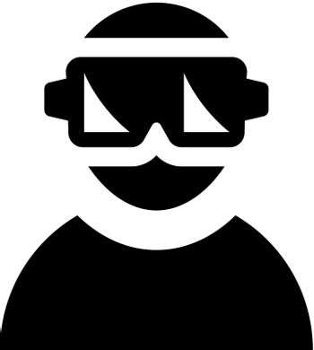 Virtual reality helmet icon