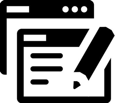 Online copy writing icon