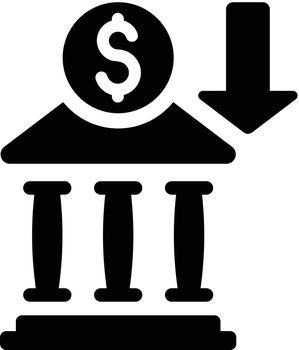 Bank deposit icon