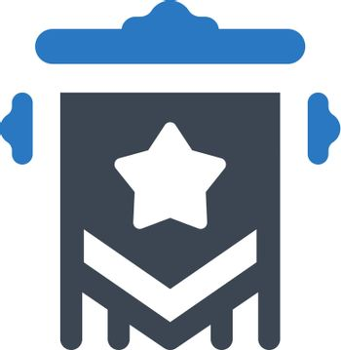 Star pennant icon