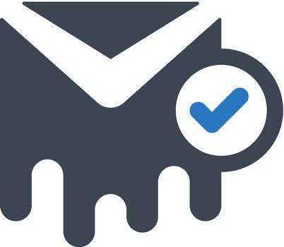 Delivered letter icon