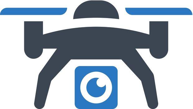 Camera drone icon. Vector EPS file.