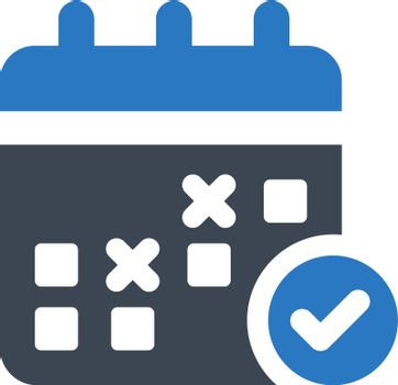 Schedule planning icon icon