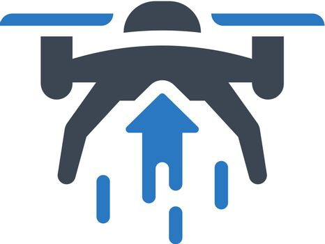Drone raise up icon. Vector EPS file.