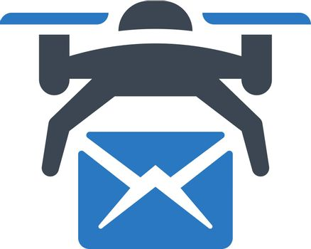 Drone post delivery icon. Vector EPS file.