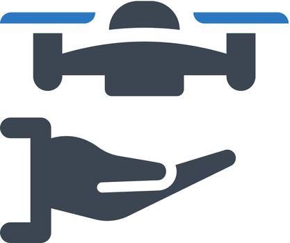 Drone hand icon. Vector EPS file.