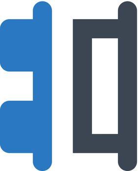 Align horizontal right distribute icon