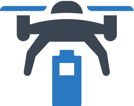 Drone low battery icon. Vector EPS file.
