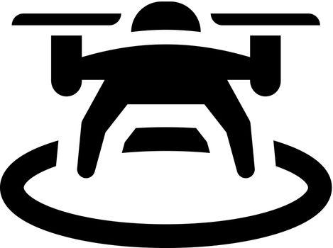 Drone landing icon