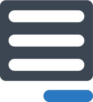 Align right icon. Vector EPS file.