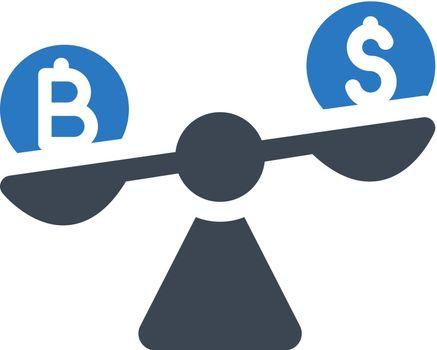 Bitcoin ratio rate icon