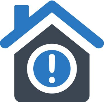 Home smart warning icon