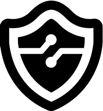 Secure information technology icon