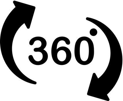Virtual reality 360 degree icon