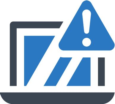 Monitor warning icon