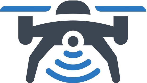 Drone signal icon. Vector EPS file.
