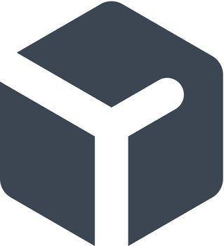 3d cube left icon
